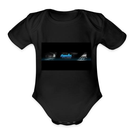 Poppalox Banner - Organic Short Sleeve Baby Bodysuit