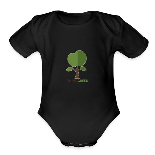 Think Green (naturecontest) - Organic Short Sleeve Baby Bodysuit