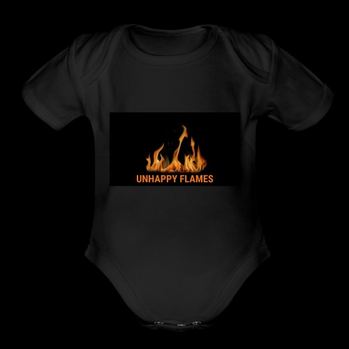 unhappy flames - Organic Short Sleeve Baby Bodysuit
