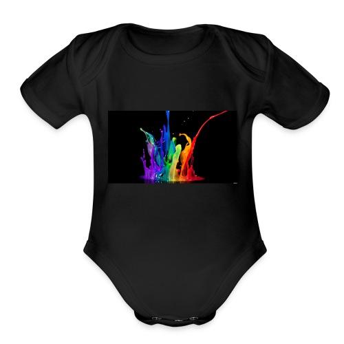 Splash - Organic Short Sleeve Baby Bodysuit