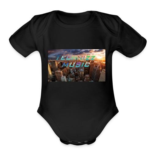 Technizz Music - Organic Short Sleeve Baby Bodysuit