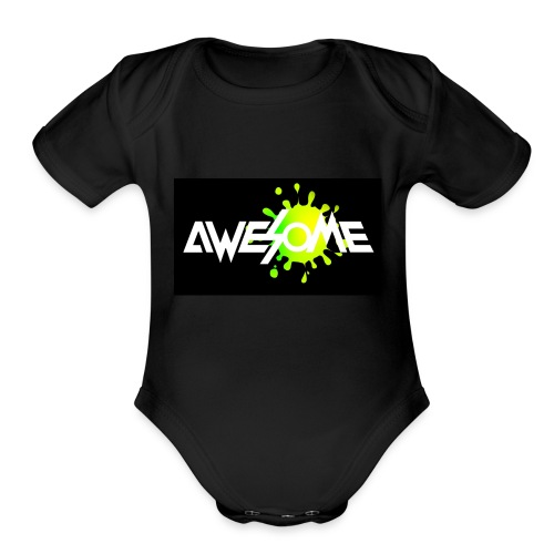 you are AWESOME - Organic Short Sleeve Baby Bodysuit
