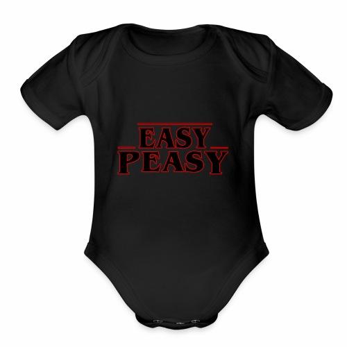 Stranger Things Easy Peasy - Organic Short Sleeve Baby Bodysuit