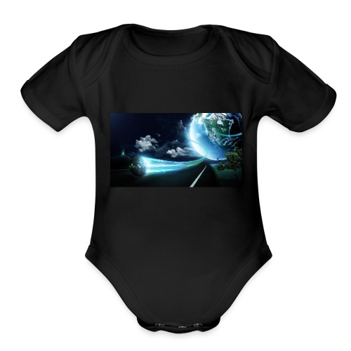 Earth Space Shirt - Organic Short Sleeve Baby Bodysuit