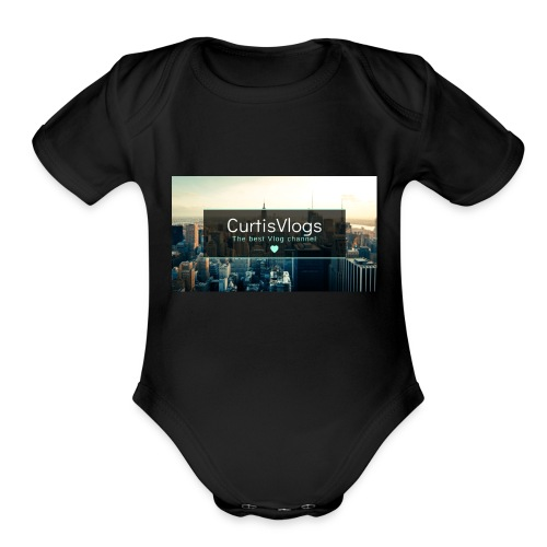 CurtisVlogs - Organic Short Sleeve Baby Bodysuit