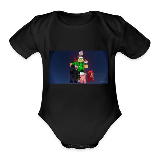 this is my youtube logo - Organic Short Sleeve Baby Bodysuit