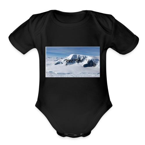 Dripyz Frosty Hoodie - Organic Short Sleeve Baby Bodysuit
