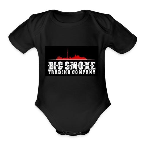 Big Smoke Trading Company Logo - Organic Short Sleeve Baby Bodysuit