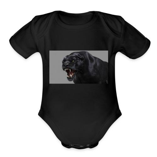 B PANTHER - Organic Short Sleeve Baby Bodysuit