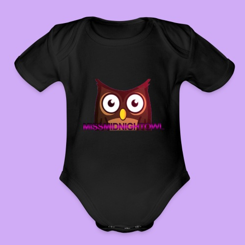 MissMidnightOwl Baby Owl Clothing - Organic Short Sleeve Baby Bodysuit