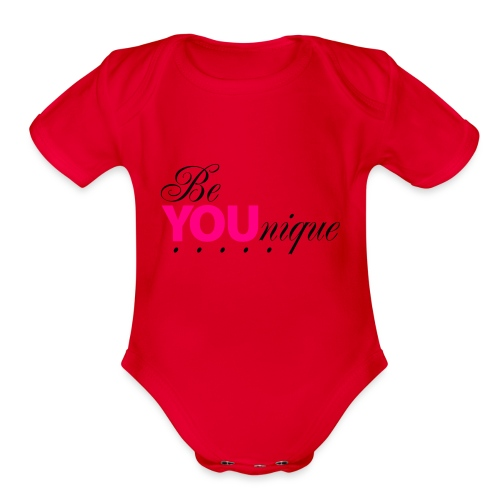 Be Unique Be You Just Be You - Organic Short Sleeve Baby Bodysuit