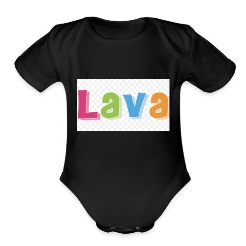 The lava - Organic Short Sleeve Baby Bodysuit