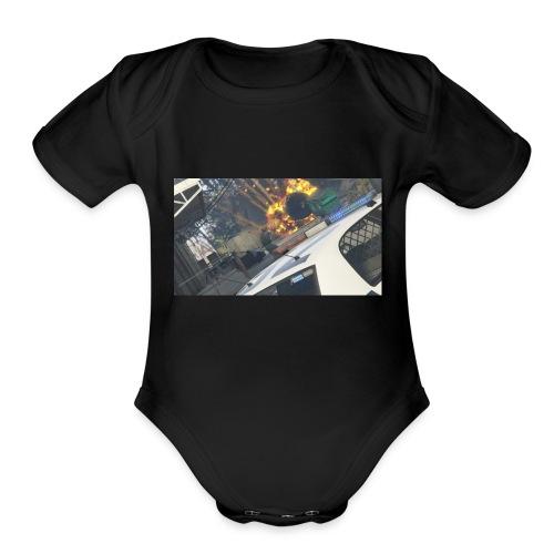 LSUC Hoodie - Organic Short Sleeve Baby Bodysuit
