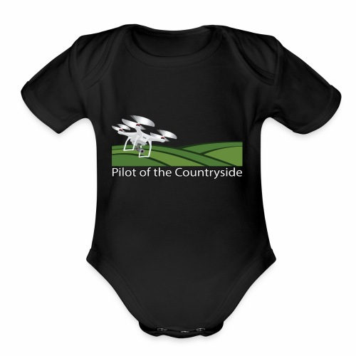 Pilot of the Countryside - Organic Short Sleeve Baby Bodysuit