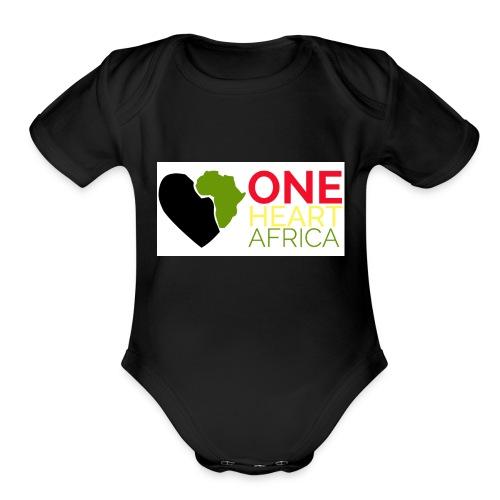 ONE HEART AFRICA - Organic Short Sleeve Baby Bodysuit