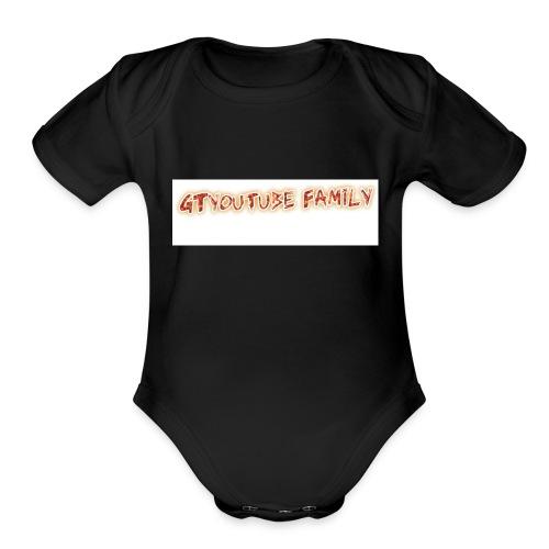 GT FAMILY LOGO - Organic Short Sleeve Baby Bodysuit