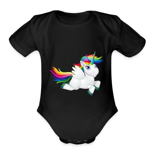Unicornio 06 - Organic Short Sleeve Baby Bodysuit