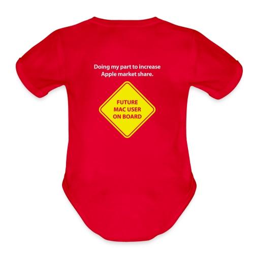 macuseronboard - Organic Short Sleeve Baby Bodysuit