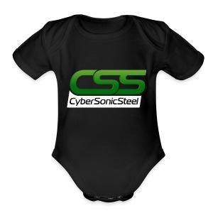 CyberSonicSteel - Short Sleeve Baby Bodysuit