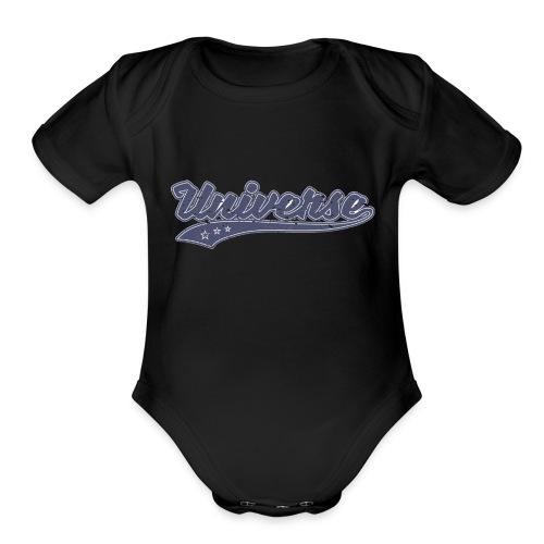 Universe (Retro Color) - Organic Short Sleeve Baby Bodysuit