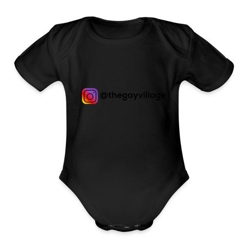 TGV Back Logo - Organic Short Sleeve Baby Bodysuit