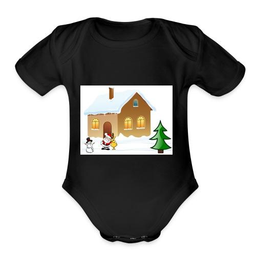 Marry_Christmas - Organic Short Sleeve Baby Bodysuit