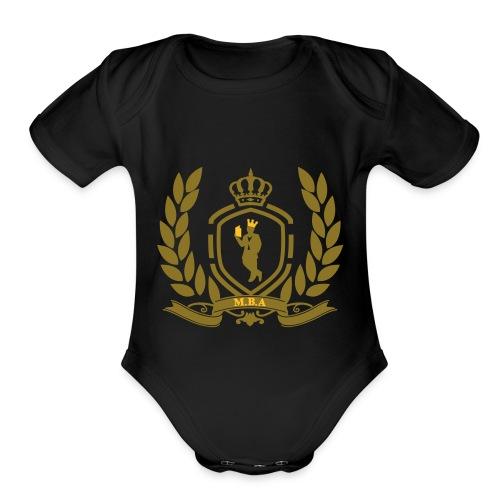 Conscious King (Crest) - Organic Short Sleeve Baby Bodysuit