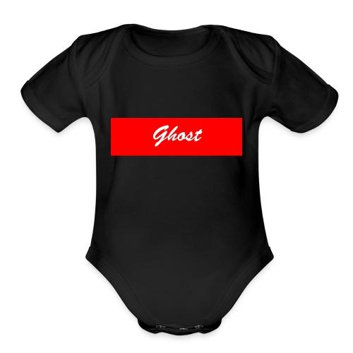 Ghost Banner merch - Organic Short Sleeve Baby Bodysuit