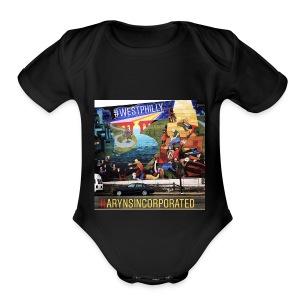 West Philly Art - Short Sleeve Baby Bodysuit
