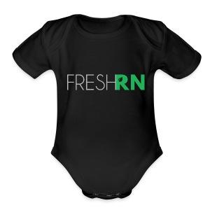 FreshRN Grey - Short Sleeve Baby Bodysuit