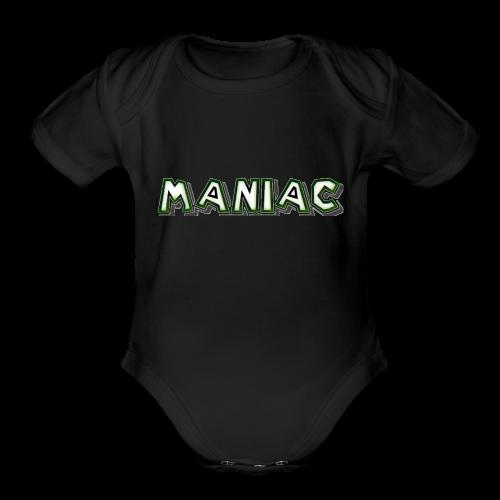 Maniac: Green Glow Edition - Organic Short Sleeve Baby Bodysuit