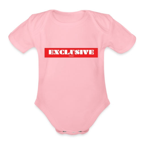 exclusive - Organic Short Sleeve Baby Bodysuit