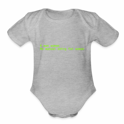 man woman. No manual entry for woman - Organic Short Sleeve Baby Bodysuit