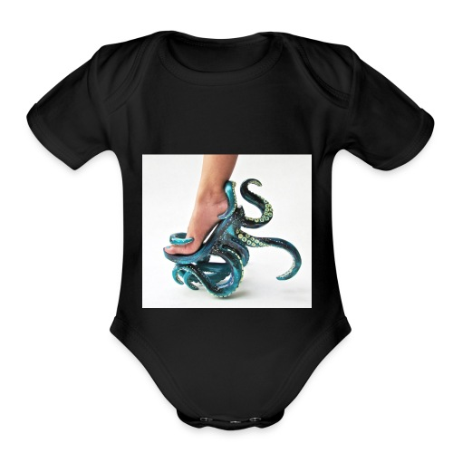 squid shoe weird fashion - Organic Short Sleeve Baby Bodysuit
