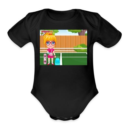 Baby Barbie Sports Injury T-shirt/Tanktop - Organic Short Sleeve Baby Bodysuit