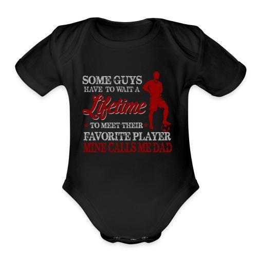 Calls Me Dad - Organic Short Sleeve Baby Bodysuit