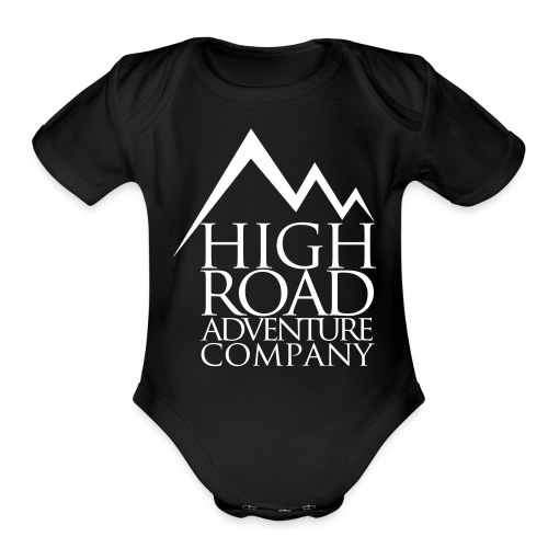 High Road Adventure Company Logo - Organic Short Sleeve Baby Bodysuit