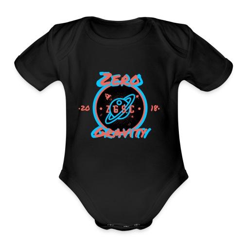 zero gravity 3D logo - Organic Short Sleeve Baby Bodysuit