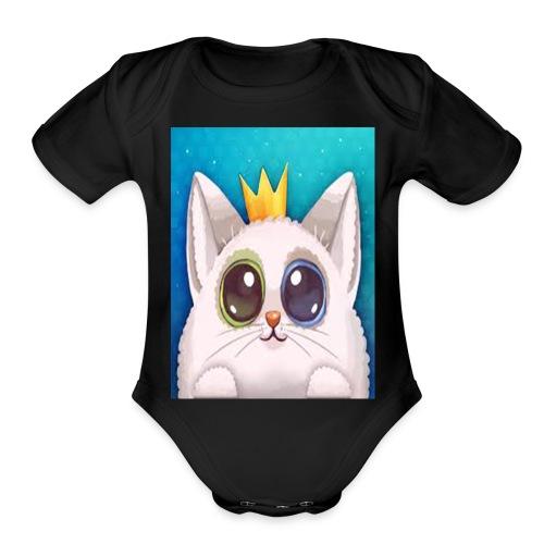 Cute Cat - Organic Short Sleeve Baby Bodysuit