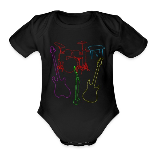 Set of a musical band instruments - Organic Short Sleeve Baby Bodysuit