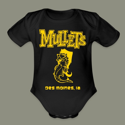 Mullets Color Series - Organic Short Sleeve Baby Bodysuit