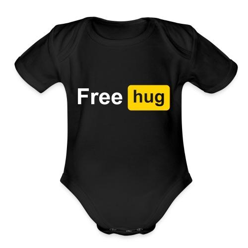 Free HUG - Organic Short Sleeve Baby Bodysuit