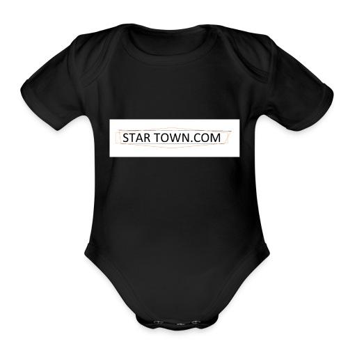 STAR TOWN - Organic Short Sleeve Baby Bodysuit