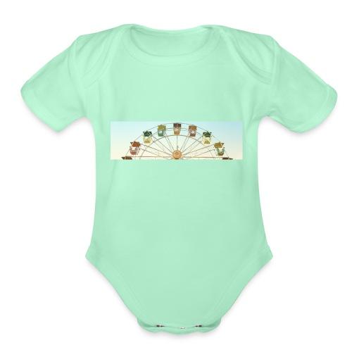 header_image_cream - Organic Short Sleeve Baby Bodysuit