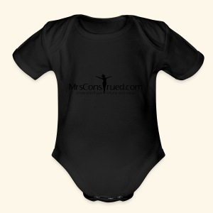 PNGMrsConstrued logo - Short Sleeve Baby Bodysuit