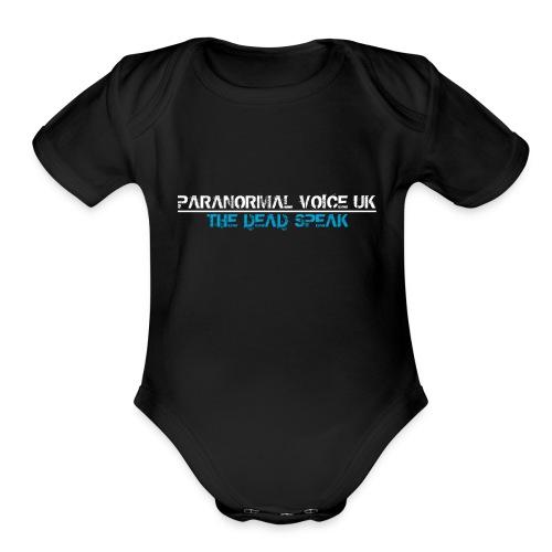 PARANORMAL VOICE UK +SIZE HOODY - Organic Short Sleeve Baby Bodysuit