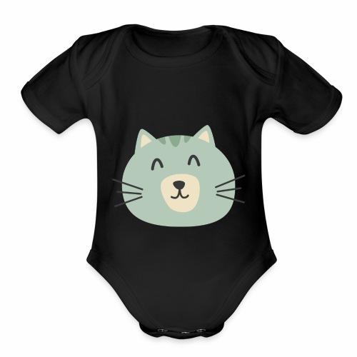 Cathy Kitty - Organic Short Sleeve Baby Bodysuit