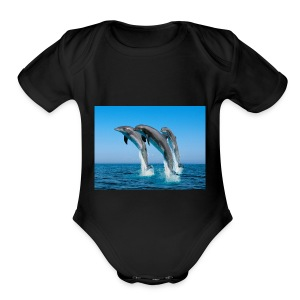 Dolphins For LIFE - Short Sleeve Baby Bodysuit