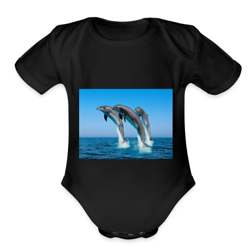 Dolphins For LIFE - Organic Short Sleeve Baby Bodysuit