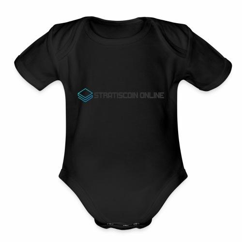 stratiscoin online dark - Organic Short Sleeve Baby Bodysuit